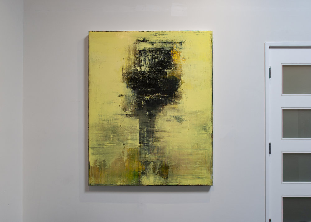 Daniel Brice, Polaroid Painting (Yellow), 2018, acrylic and oil on canvas, 60 x 48 inches