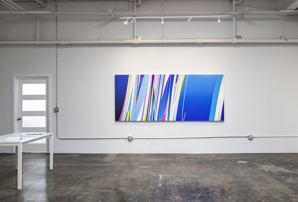 DION JOHNSON, Kite, 2018, acrylic on canvas, 48 x 112 inches