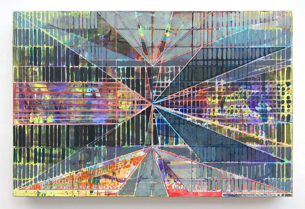 Joe Lloyd, Yellow Pattern, 2017, acrylic on canvas, 48 x 72 inches