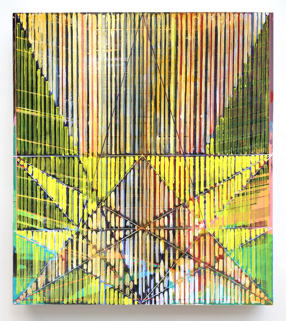 Joe lloyd, Star Pattern, 2017, acrylic on canvas, 38 x 34 inches