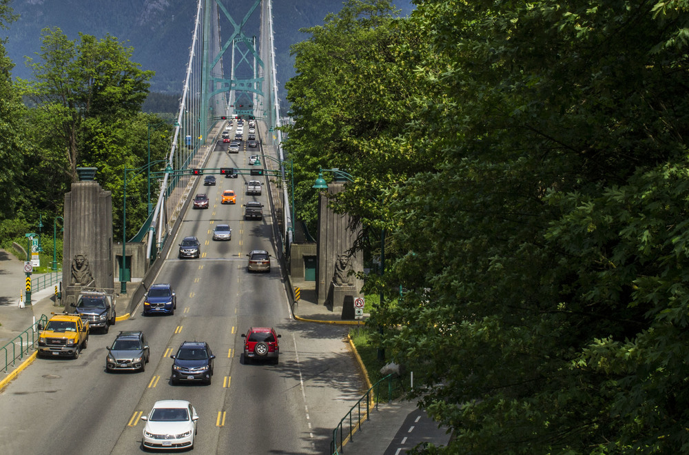 Lions Gate Bridge on a Vancouver tour.
