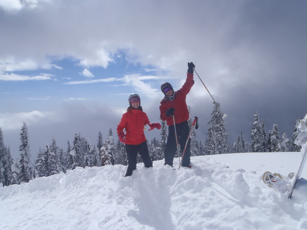 Powder skiing tour in British Columbia