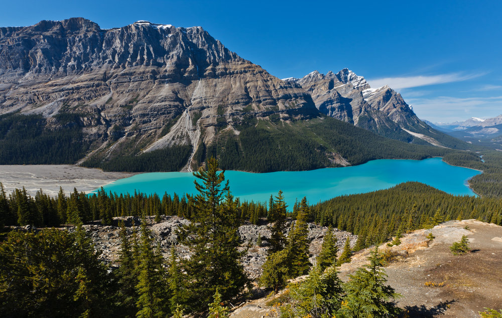 Rockies hiking tour at Peyto Lake