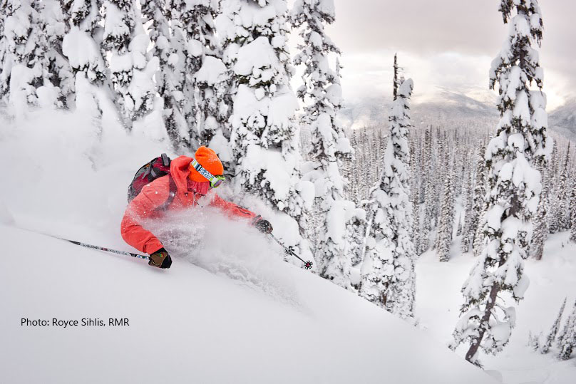 Canada ski vacations with powder.