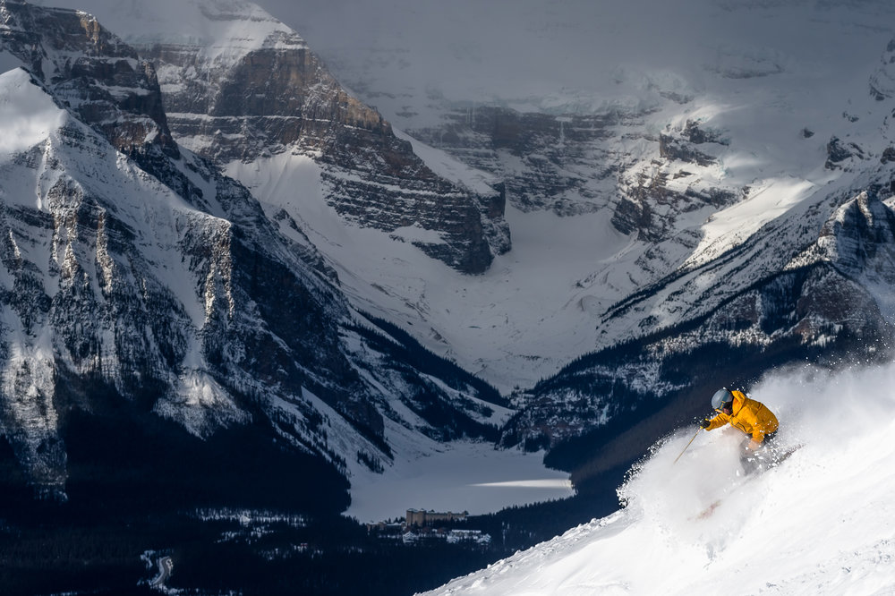 Guided Rocky Mountain ski tour in Banff and Lake Louise.