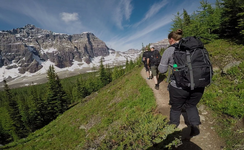 Guided hiking excursion in Banff National Park.