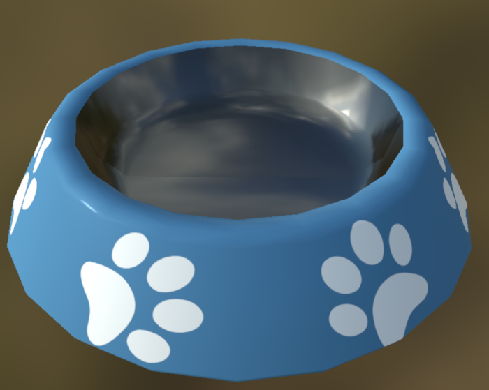 3-d model of Baloo's doggie bowl
