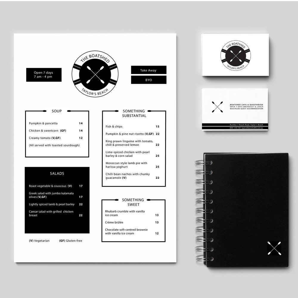 Stationery Design, The Boatshed