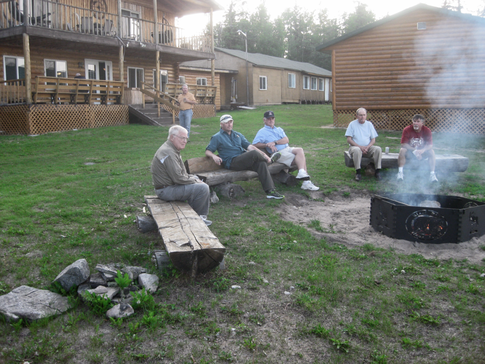 Enjoy a cold one by the fire pit after a long day of fishing.