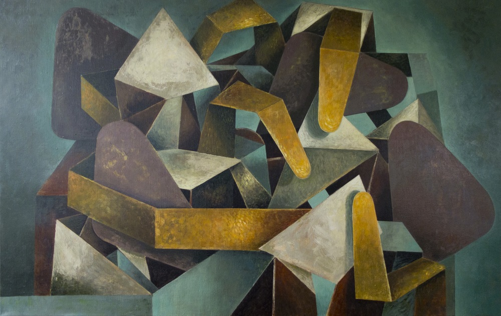 Berend Boorsma, Conversations 2014, oil on canvas, 160 x 100 cm