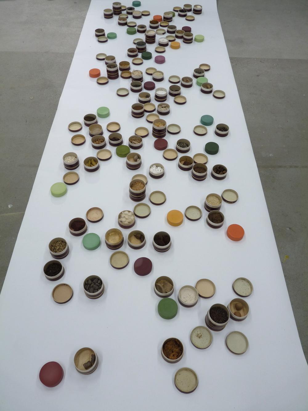 Like a shower of slanting rain, 2015, installation view