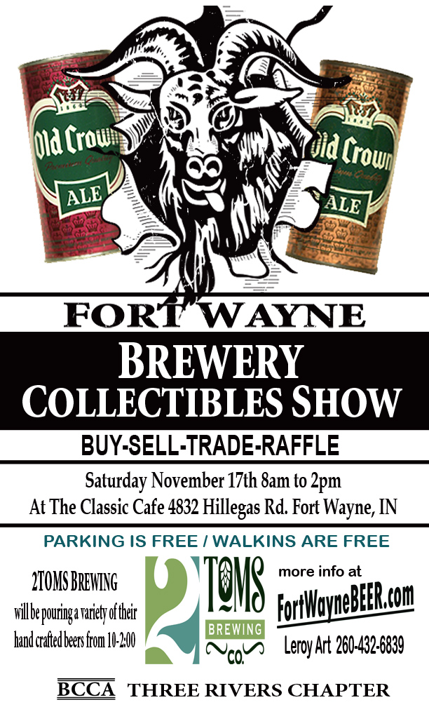 Fort Wayne Brewery Collectibles Show 2018 ad 8.5x14 copy.jpg
