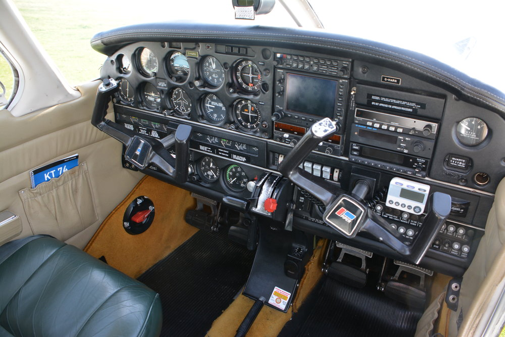 The instrument panel for a PA 28 GHARN