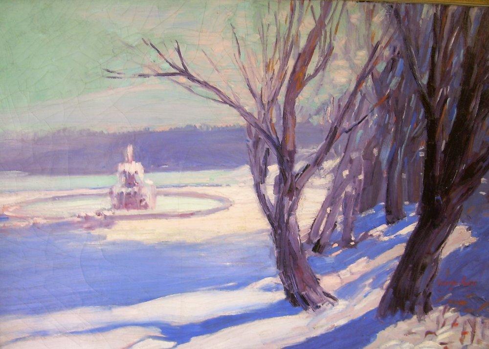 George Luks, Winter in Central Park, NY.jpg