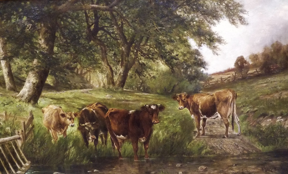 Cows by a Stream, John Jay Barber.jpg