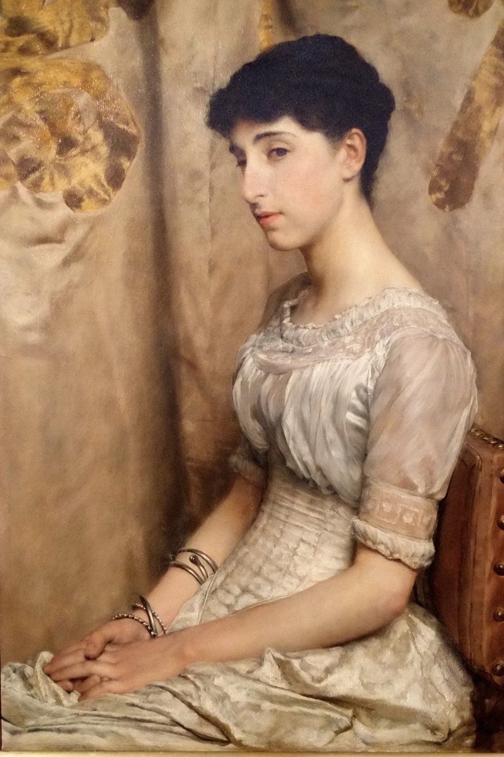 Alma Tadema, Portrait of Miss Alice Lewis.JPG