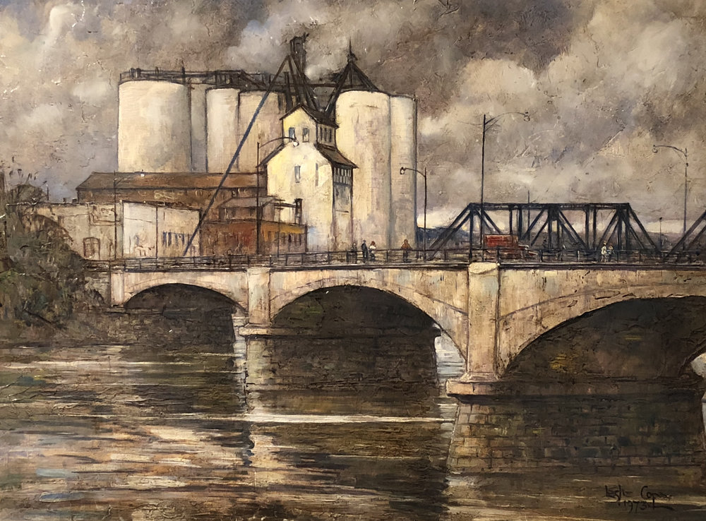 Gray Day at the Mill, Zanesville, Ohio, Leslie Cope.JPG