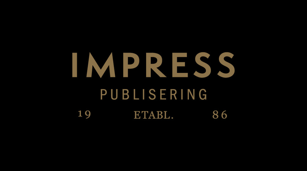Impress publisering - The design and art direction is based on the definition of Impress: 1) to affect deeply or strongly in mind or feelings; influence in opinion. 2) to apply with pressure so as to imprint.