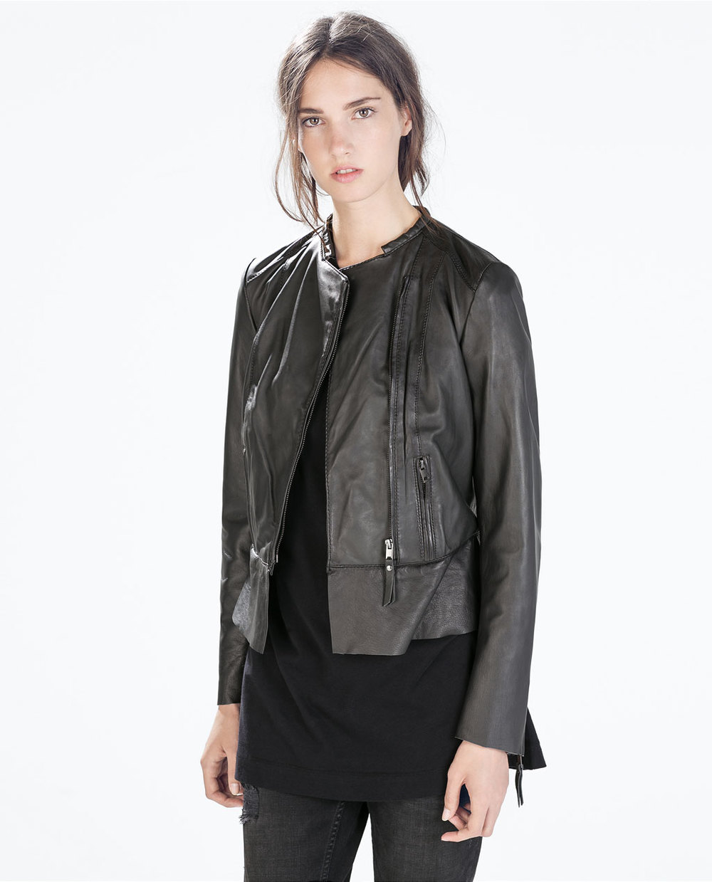 Zara  Short Leather Jacket  ($199)
