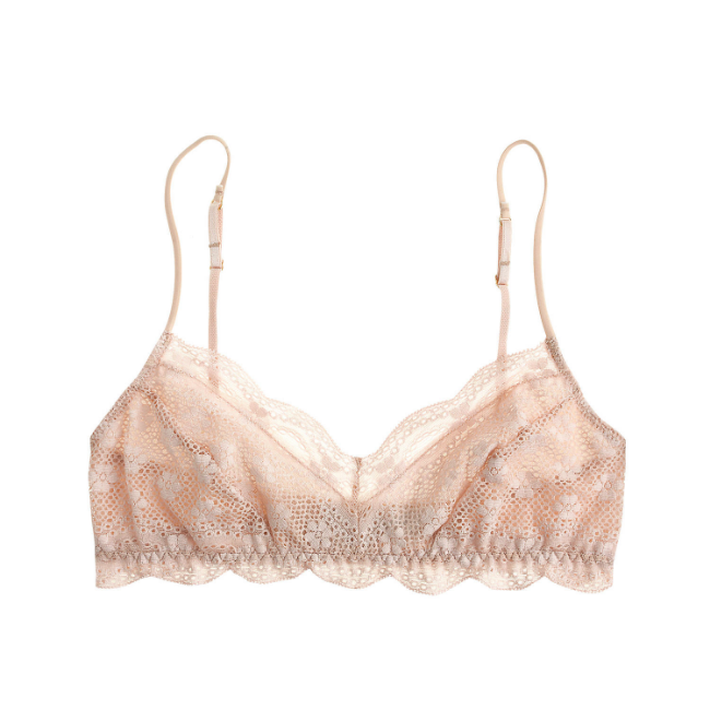 Eberjey India Lace Bralet ($48) from J. Crew
