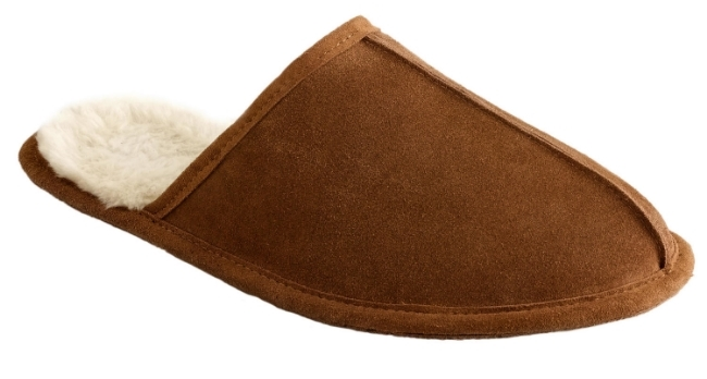 J. Crew Men's Shearling Scuffs ($50) from  J.Crew