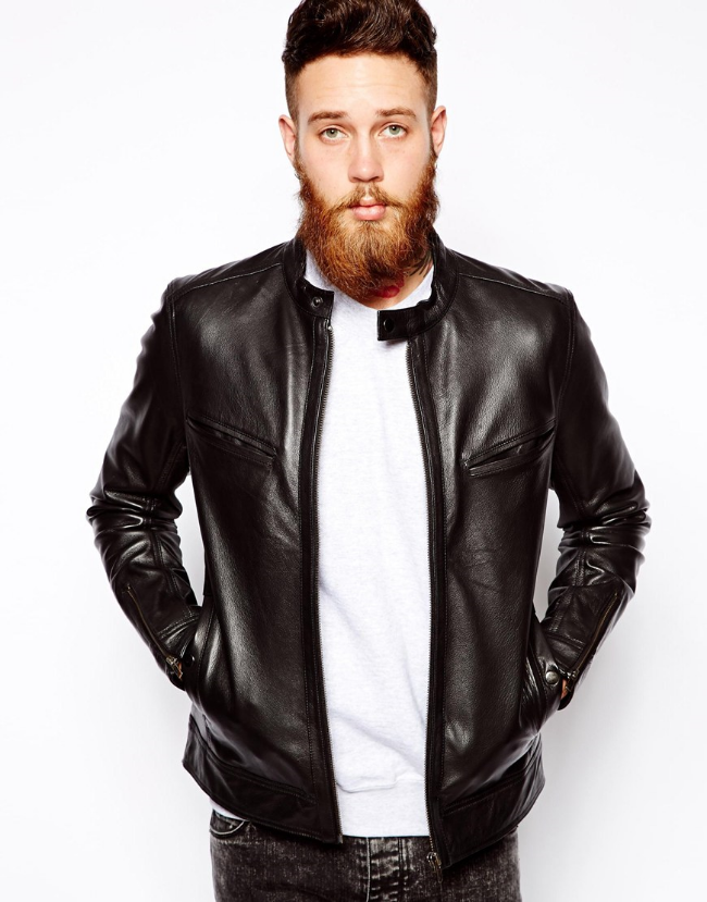 Leather Biker Jacket ($190) from  ASOS