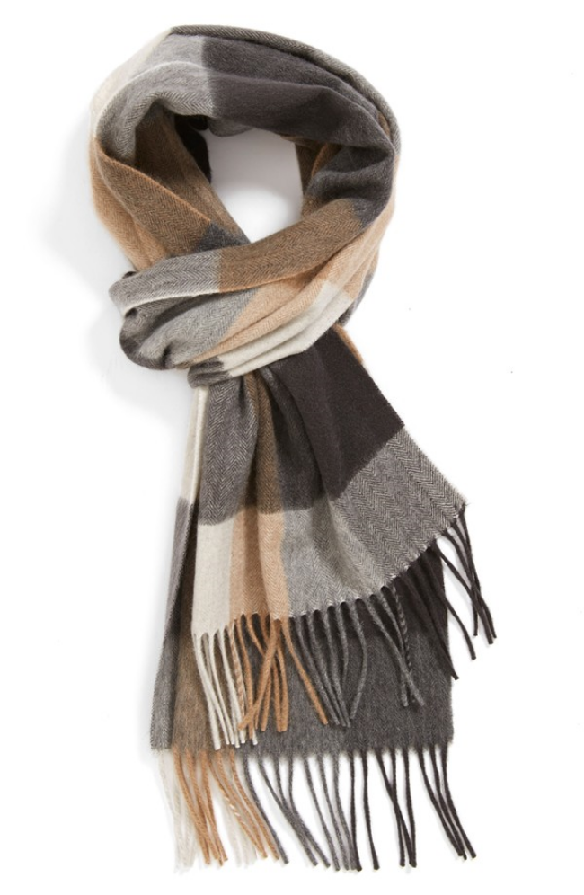 Buffalo Plaid Cashmere Scarf ($100) from Nordstrom