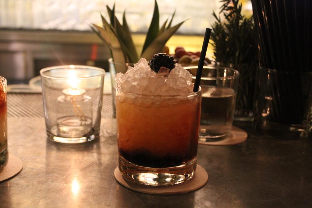The Blackberry Honey Sour: Bourbon + Blackberry + Honey Lemon