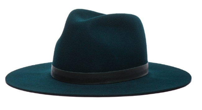 Janessa Leone Charles Hat in Forest Green ($165) from Forward by Elyse Walker