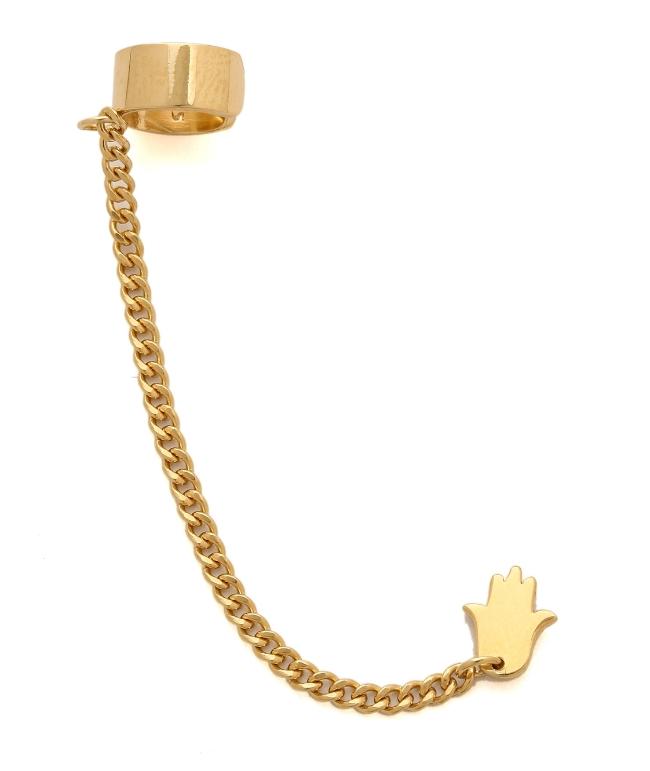 Jennifer Zeuner Jewelry Violet Hamsa Earring ($86) from  Shopbop