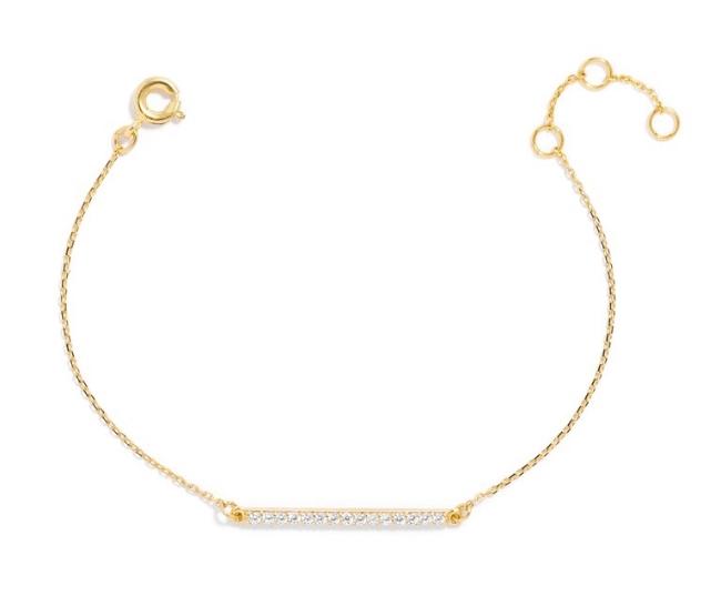 Bauble Bar Ice Slim Bar Bracelet ($32)