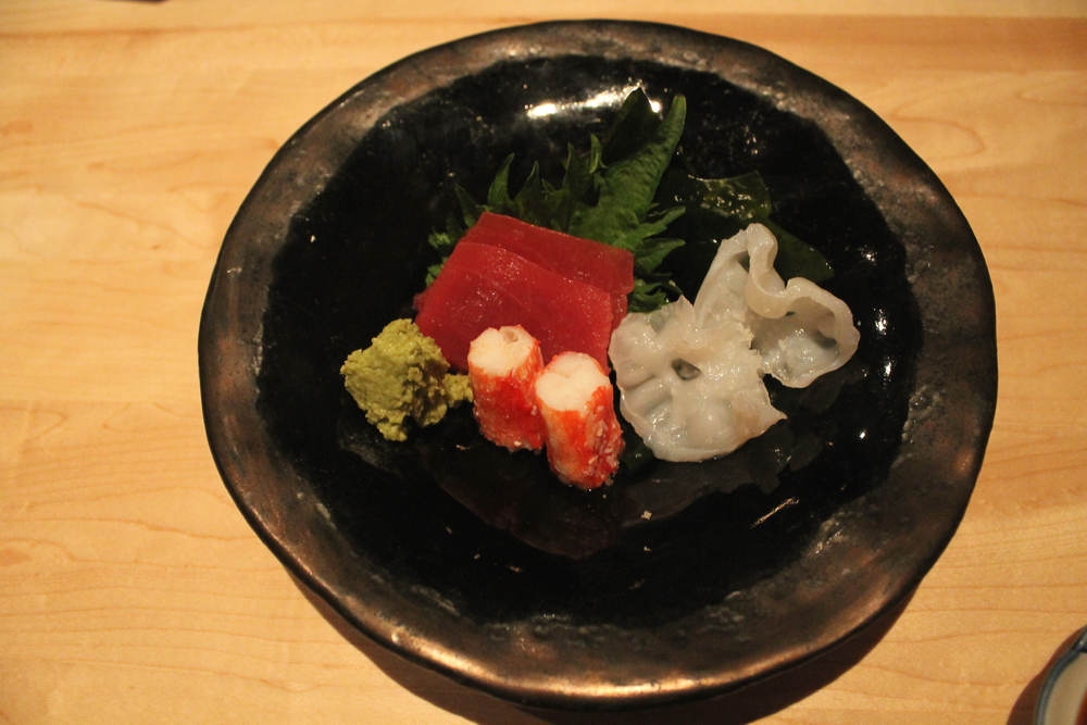 Japanese Live Octopus, Spanish Ranched Bluefin Tuna, Russian King Crab, Japanese Wakame