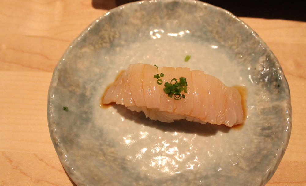 East Coast Engawa (Halibut Fin) Nigiri