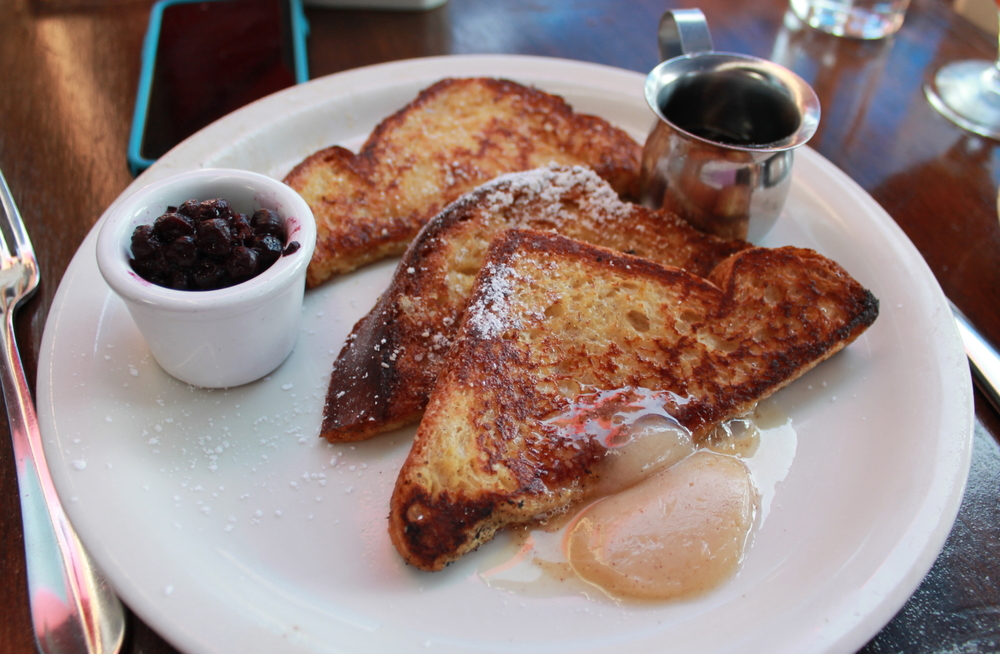 Orange Blossom Brioche French Toast, Cinnamon Honey Butter & Bourbon-barrel Maple Syrup