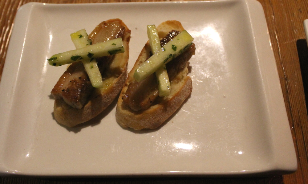 Pork Belly Montadito w/ Green Apple