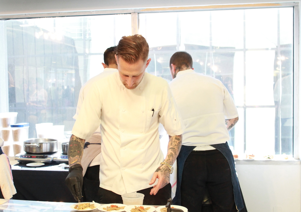 Chef Michael Voltaggio hard at work at his Ink. station