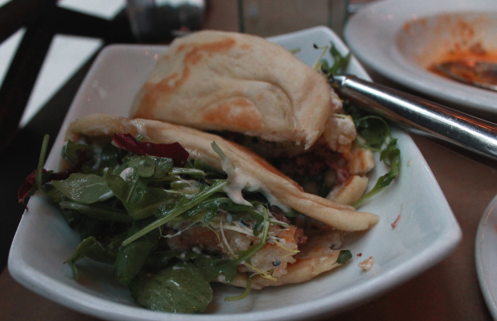 The Toron: Oxtain Hash Sandwich with Horseradish Yogurt