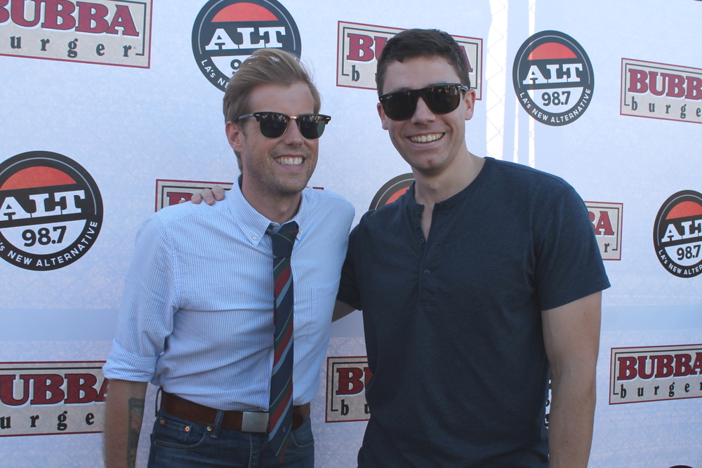 Bae with Andrew McMahon, of whom he's a longtime fan.