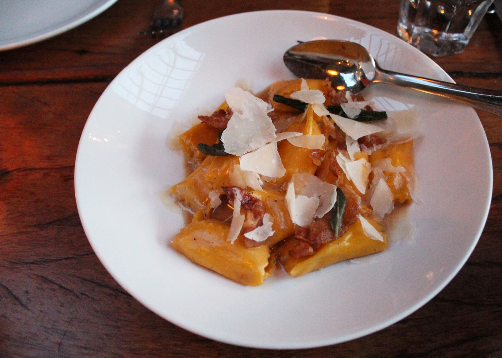 Sweet Corn Agnolotti   brown butter, sage, parmesan