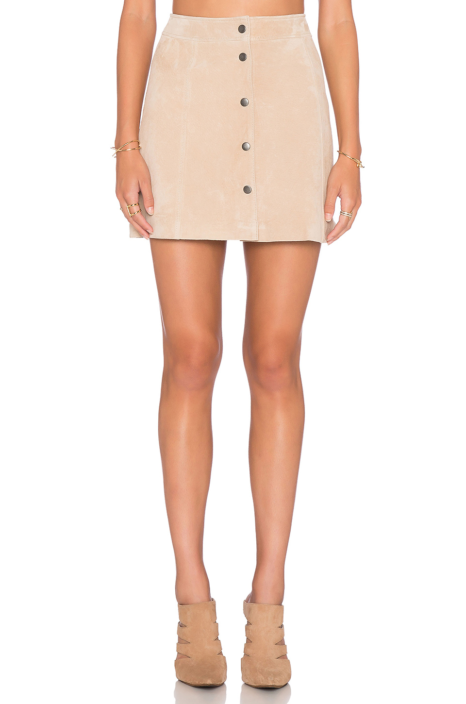 Bardot Blondie Suede Skirt, $150