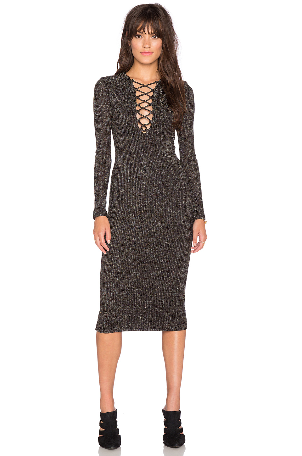 Bardot Lace-Up Dress,  Revolve , $130