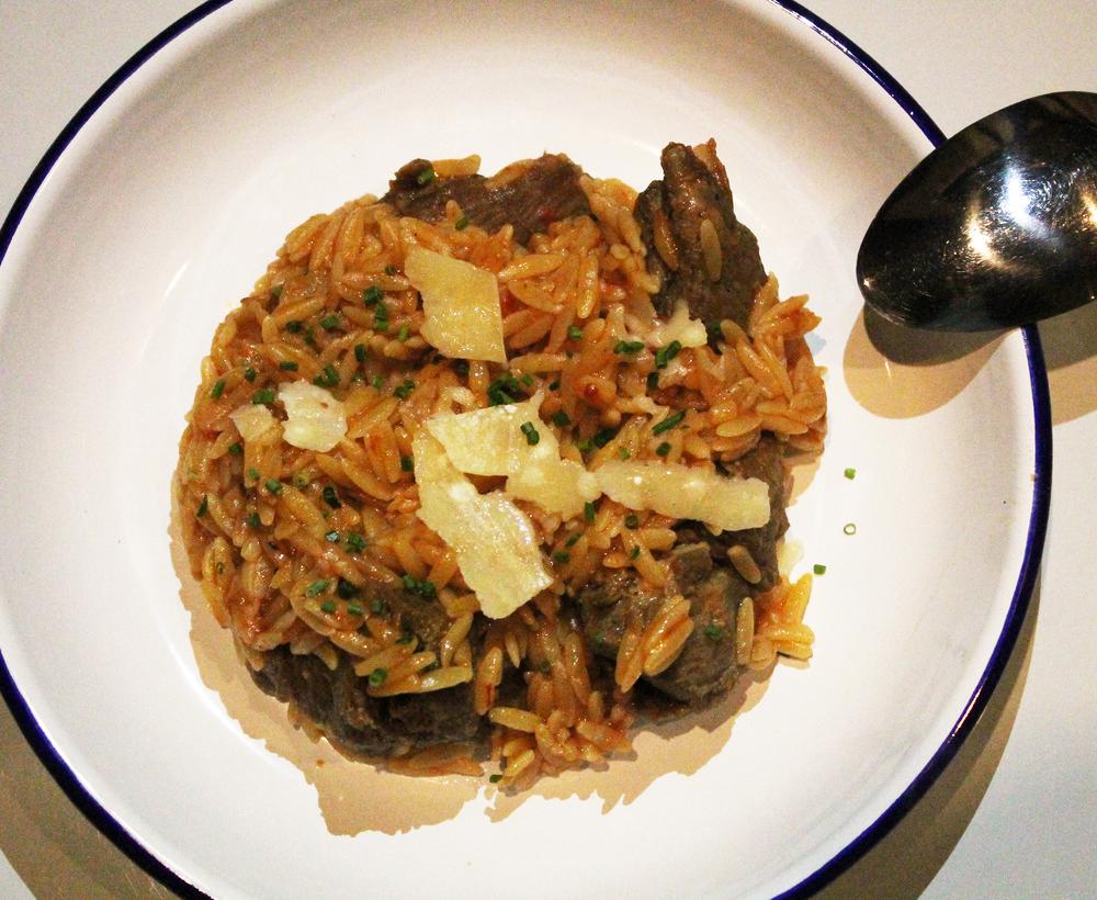 Lamb & Orzo:Tomato, Parmesan