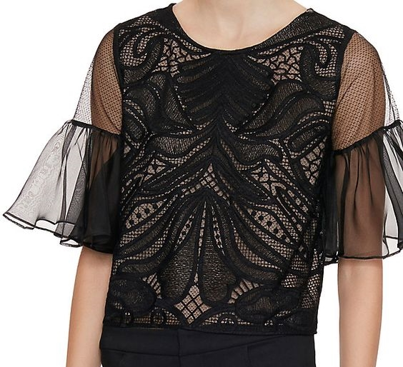 Alexis Lace Top, $119,  Intermix