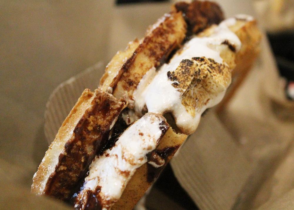 BELGIAN CHOCOLATE S'MORES DESSERT SANDWICH