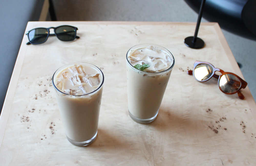 Iced Chai (Left) and Iced Minty Cubano (Right)
