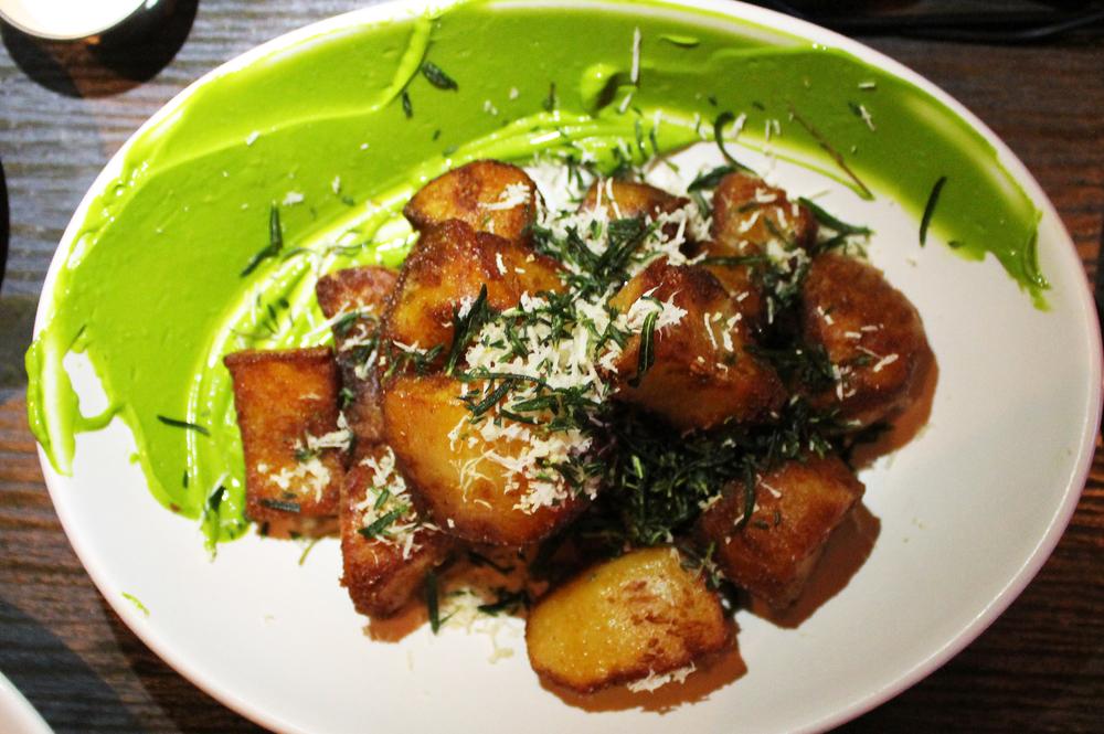 Crispy Potato:chive aioli, rosemary, horseradish