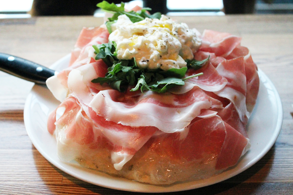 Prosciutto: parma prosciutto 24 months, lightly fried sage dough