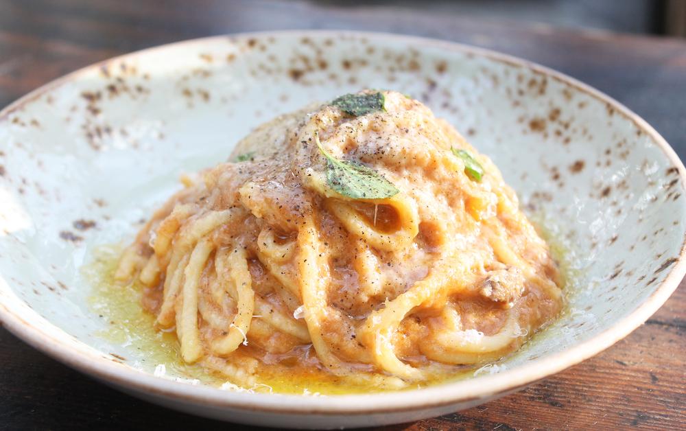Spaghetti, Sugo, Pecorino, $12