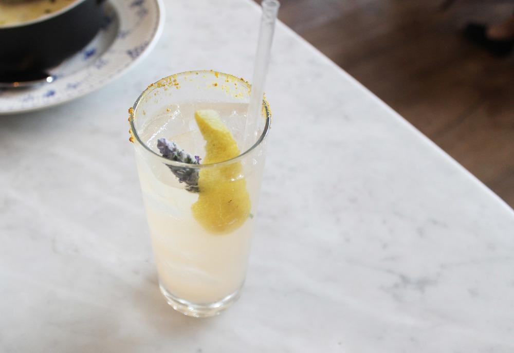 Seconds Count:botanist gin, champagne, lavender honey, lemon