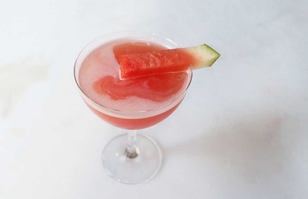 The Yin 'N Yuz : Gin, fresh watermelon, yuzu juice, sea salt and cilantro